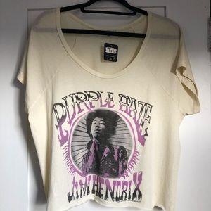 NWT Junk Food Jimi Hendrix Yellow Short Sleeve Tee